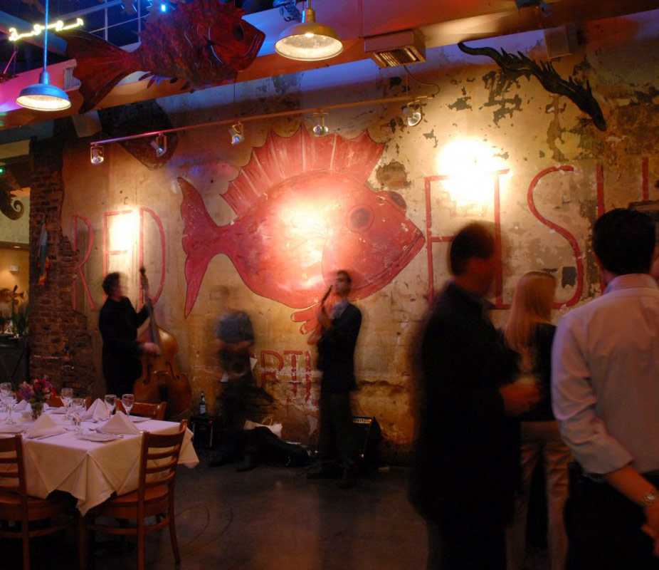 Photo of Private Party event space decorated at Red Fish Grill