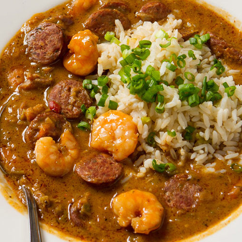 Alligator Sausage and Seafood Gumbo