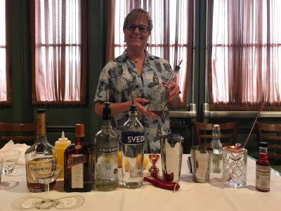 Holli, our master mixologist