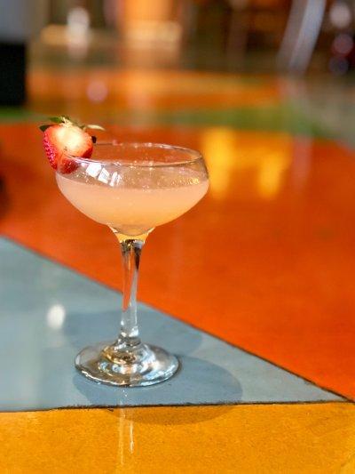 Strawberry Starburst Hand-Shaken Daiquiri