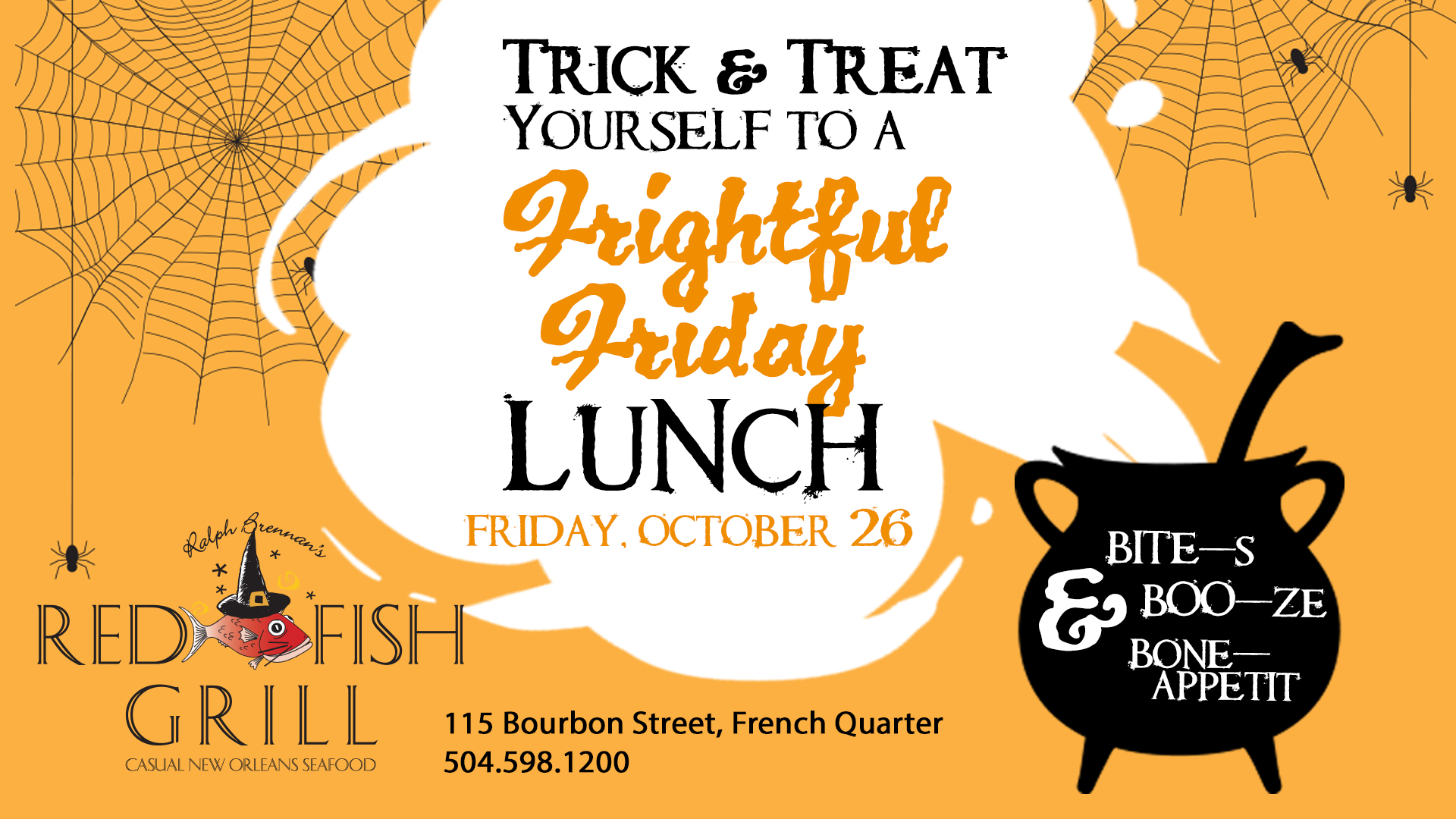 Promotion for Frightful Friday Halloween Lunch