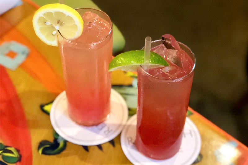 Promotion for Drink Pink at Red Fish Grill!